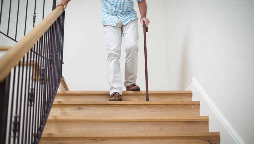 do stair lifts need loler - https://elements.envato.com/senior-man-climbing-downstairs-with-walking-stick-LTKQ9V2